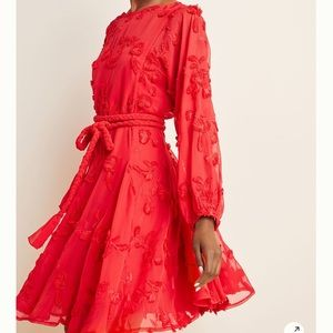 Anthropologie Mare Mare Red Swing Dress Size L